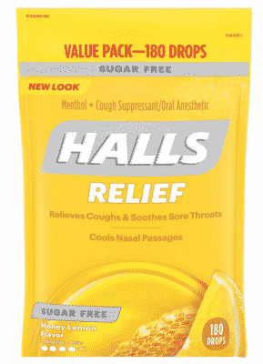 Halls Sugar-Free Honey Lemon Cough Drops