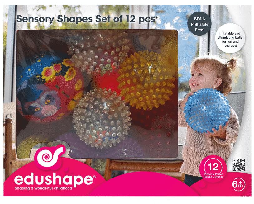 Edushape 12pc Sensory Balls and Shapes $16.99
