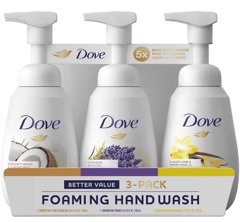 Dove Foaming Handwash Variety Pack $0.99