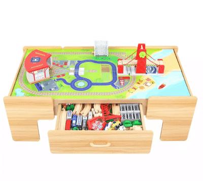 Jupiter Workshops 100-Pc. Wooden Train Table