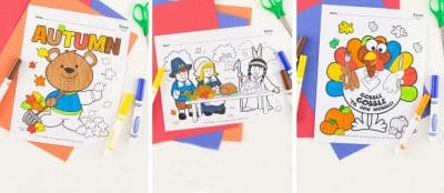 free fall and thanksgiving coloring pages