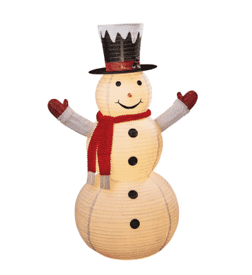 6ft Twinkle Hoop Snowman and Red Scarf