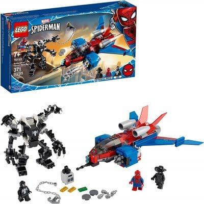 Lego Building Kit Marvel Spider Man / Venom Jet