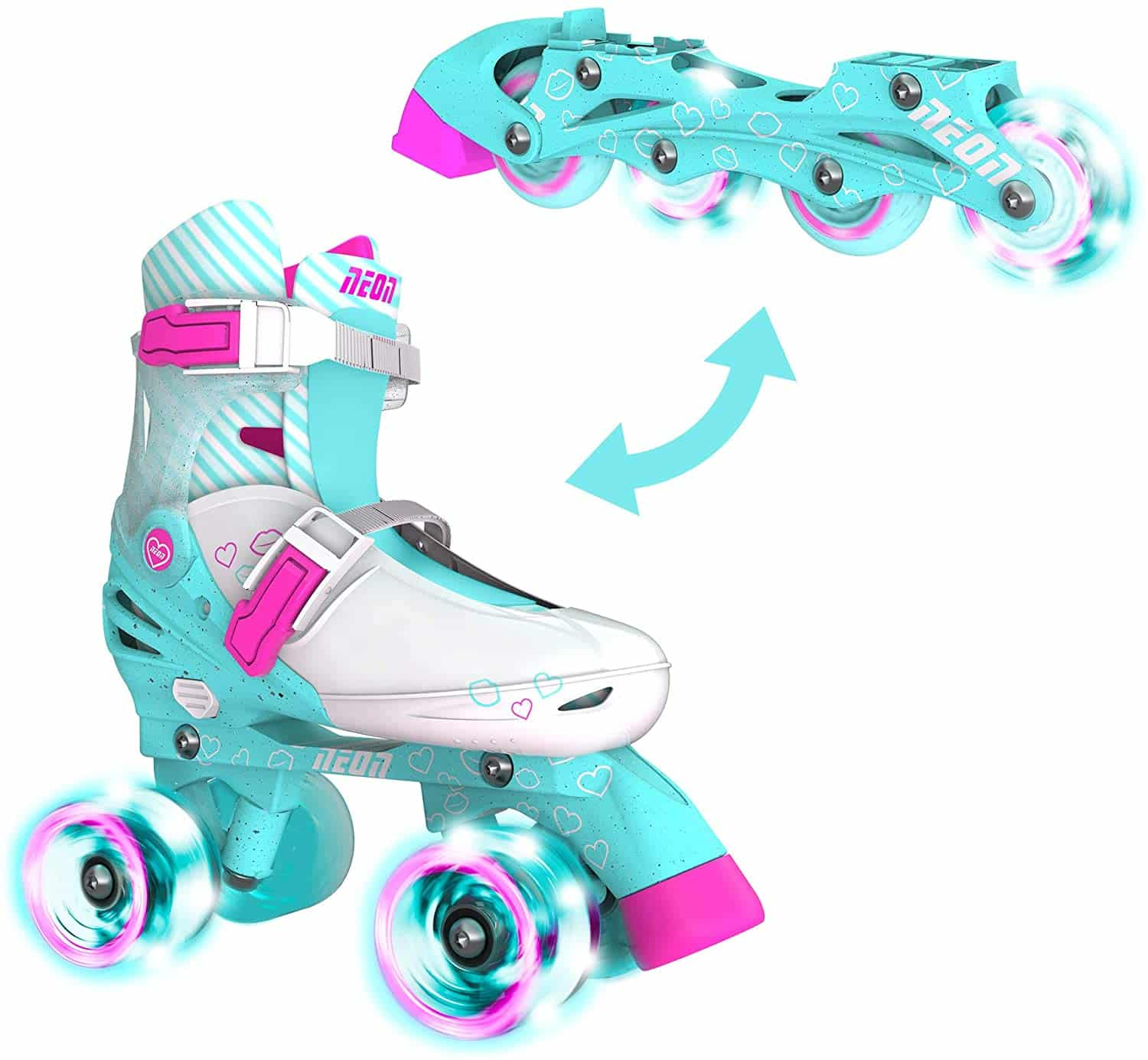 NEON 2-in-1 Combo Skates with Light-up Wheels $39.98