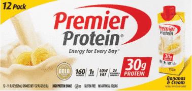 premier protein bananas and cream shake