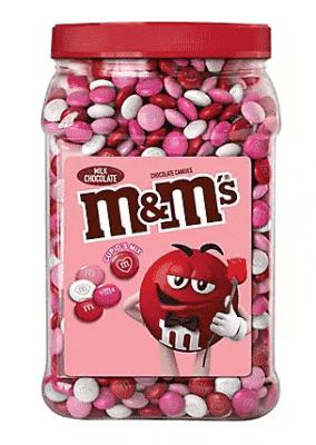 m&ms valentines day candy jar