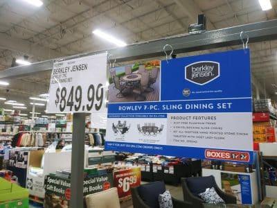 BJs Rowley 7pc Sling Dining Set