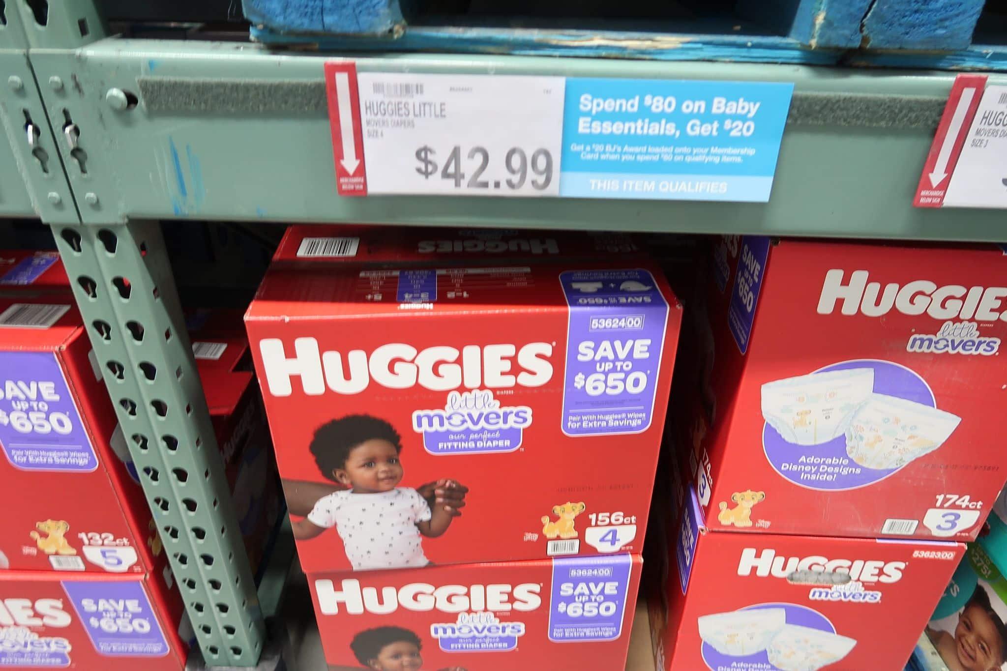 Save $8 on Huggies Diapers at BJs!
