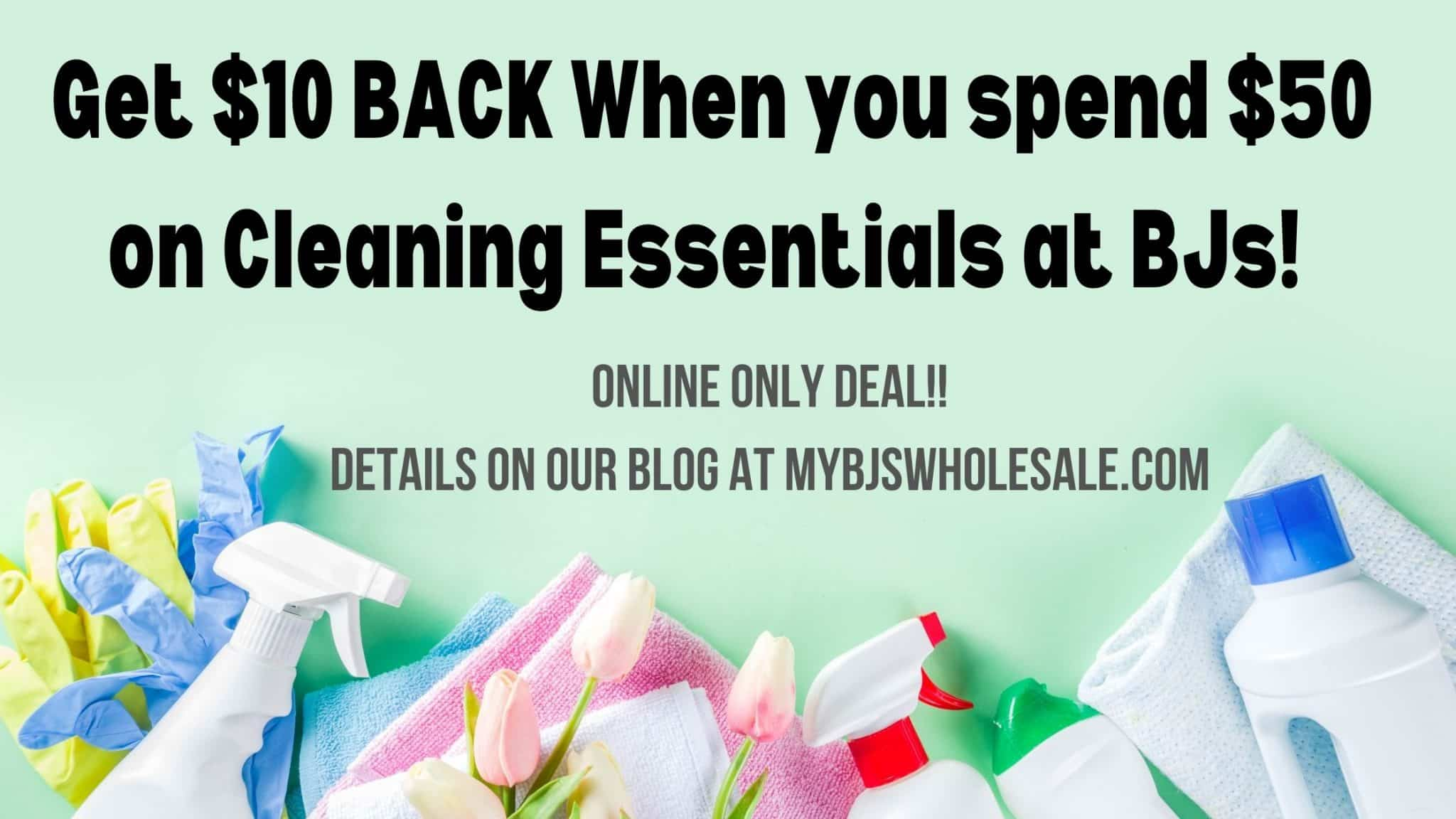 Spend $50 Get $10 Back On Spring Cleaning Essentials